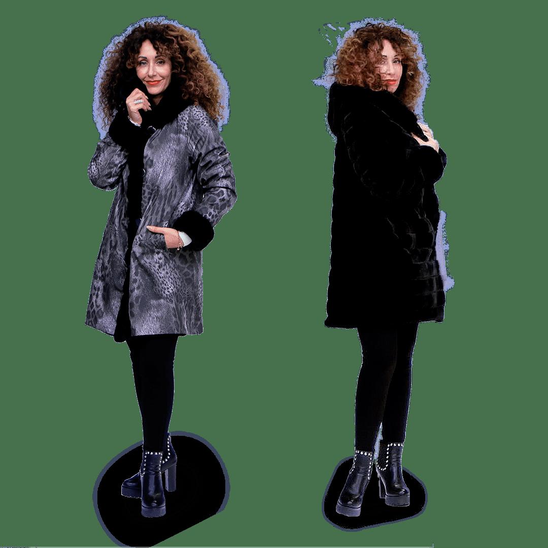 Cappotto invernale in Similpelliccia Reversibile