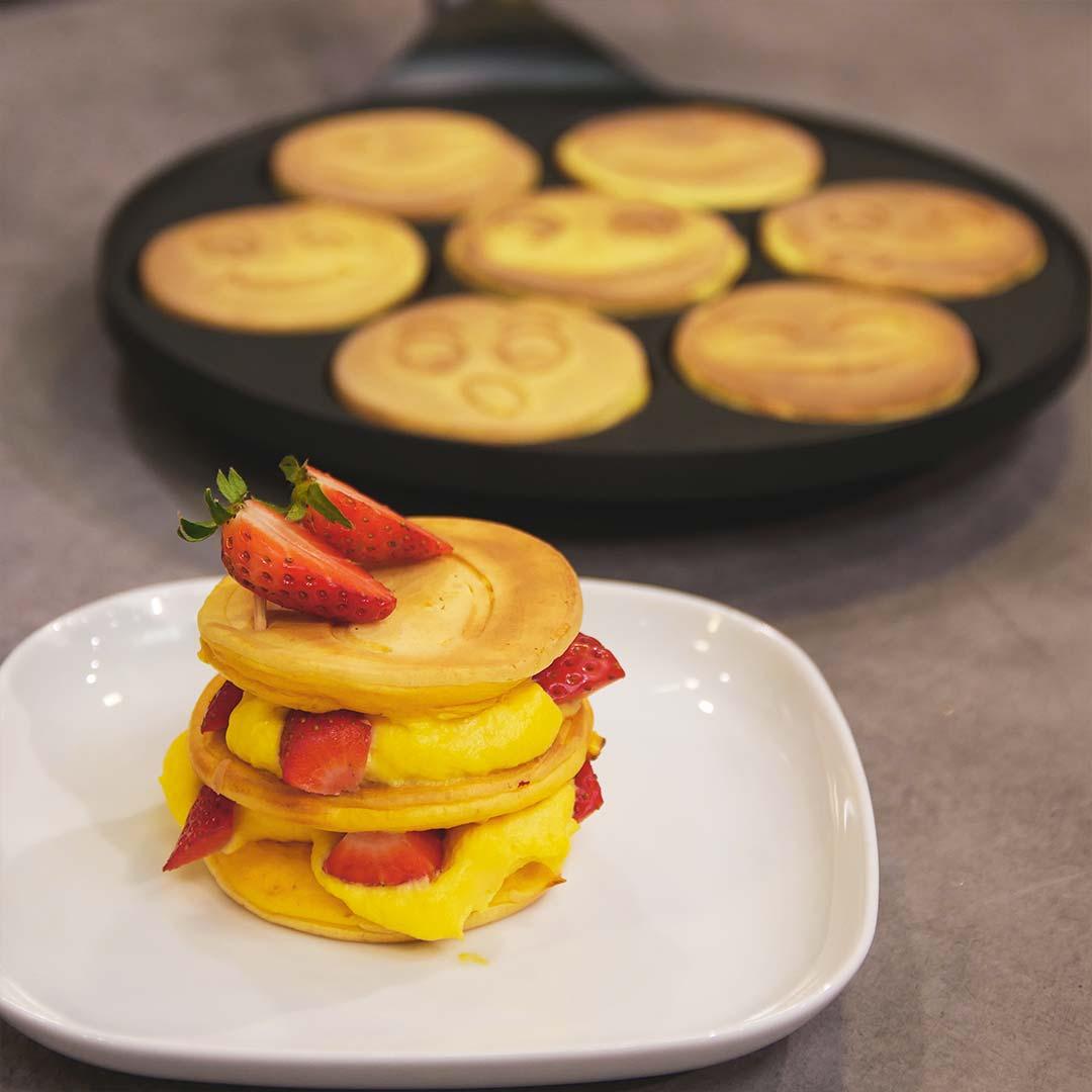 pancake-fragola