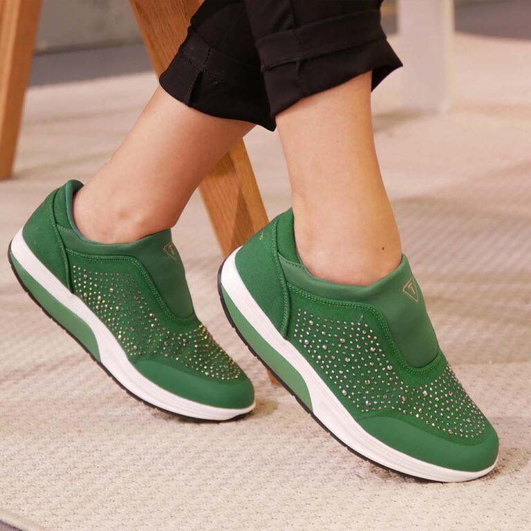 Jogger con glitter verde a soli 39,99€
